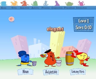 ألعاب قواعد اللغة الانجليزيه للأطفال