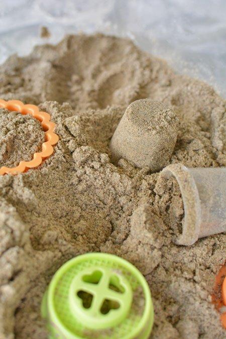 طريقة عمل الرمل السحري-الرمل  المخصص للعب الأطفال-الجزء الثاني طرق صناعة الرمل