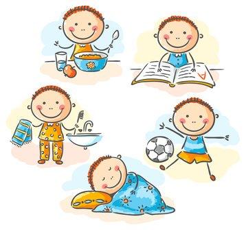 الروتين اليومي للأطفال